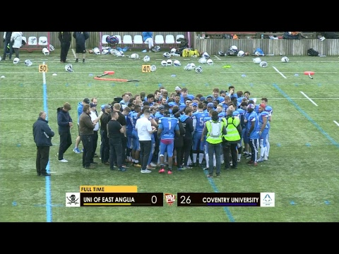 BUCS American Football Trophy Final | UEA vs Coventry