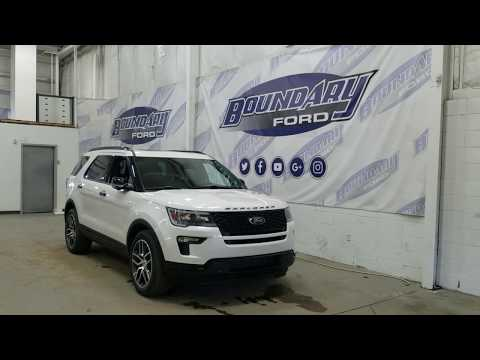 2019 Ford Explorer Sport 400A W/ 3.5L EcoBoost, Leather, Remote Start Overview | Boundary Ford