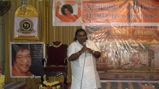 Speech By Dr. Ghatam Karthick on his Life Experiences with Bhagawan Sri Sathya Sai Baba