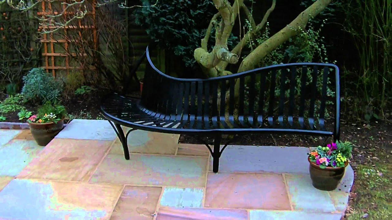 Wrought Iron Garden Bench Youtube