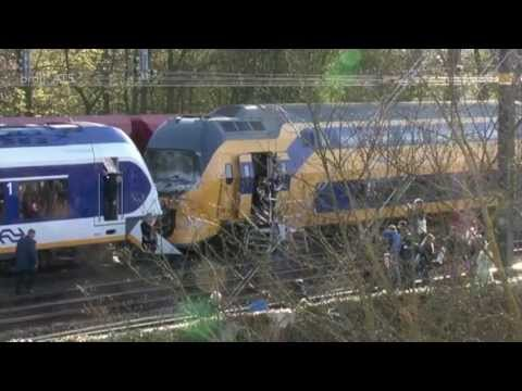 Animatie Treinbotsing tussen intercity en sprinter, 21 april 2012, Westerpark, Amsterdam