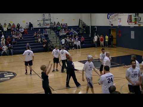 2018 Abington Heights MS - 8th Grade vs Faculty Basketball Game - 1st Quarter