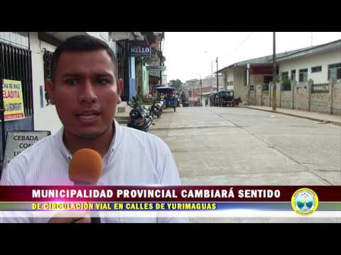 MUNICIPALIDAD PROVINCIAL DE ALTO AMAZONAS CAMBIARÁ EL SENTIDO DE CIRCULACIÓN VIAL EN CALLES