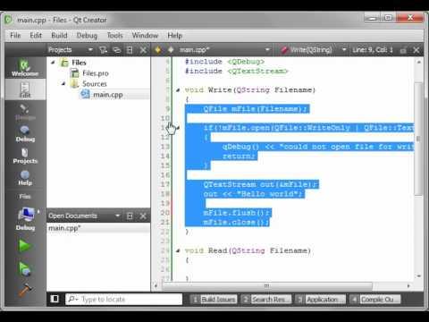 C++ Qt 12 - QFile