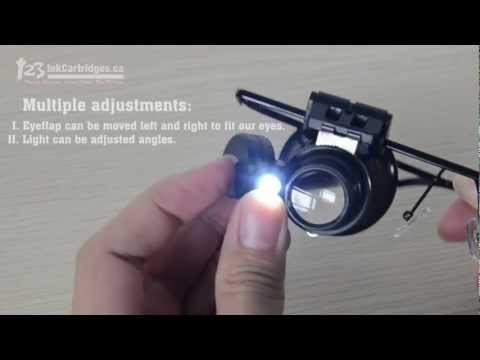 Review of HG-H8129 Watch Repair Glasses Style Magnifier Loupe 20X With LED Light
