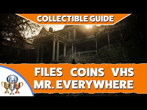 Resident Evil 7 Collectible Locations - Files, Antique Coins, Mr Everywhere Bobbleheads & Videotapes