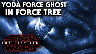 Star Wars The Last Jedi - Yoda Force Ghost In Force Tree!