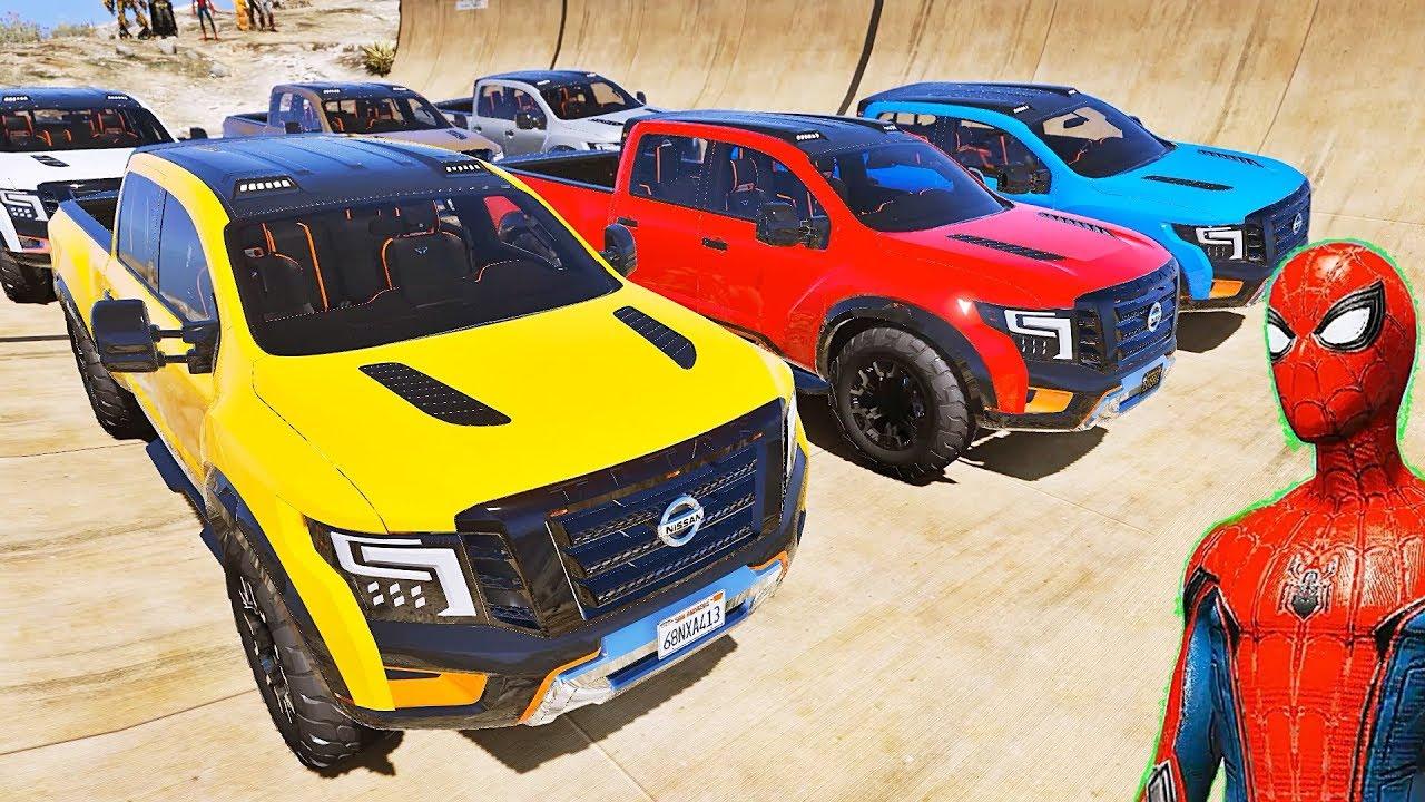 Download CARROS Pickup com HOMEM ARANHA e SUPER HERÓIS! Desafio de Carros na Mega Rampa - IR GAMES
