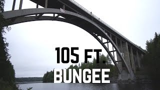 105 ft HOMEMADE BUNGEE JUMP