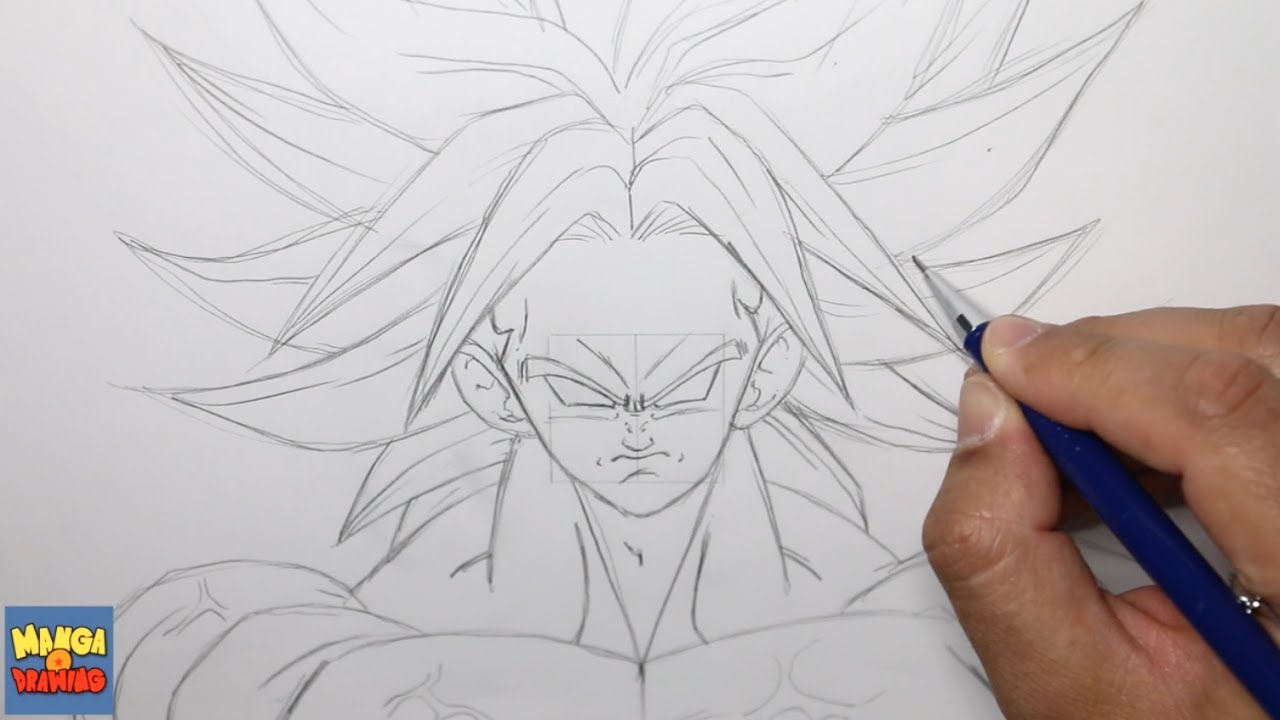 Comment Dessiner Broly Dbz Video Commentee Youtube