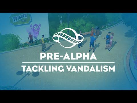 Security Guard Tackling Vandlism - Planet Coaster Preview