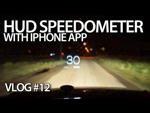 HUD, lane assist, distance monitoring with iPhone apps.