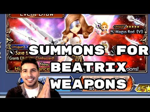 Beatrix Weapons Summons Roses of May - [DFFOO] - Dissidia Final Fantasy: Opera Omnia