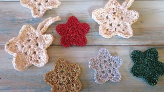 Crochet Flower Star Tutorial 1