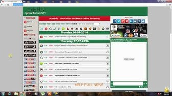 top 5 live cricket,football,rugby,tennis,baseball, streaming websites