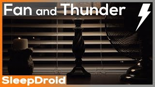 Gambar cover ► Soothing Fan Sounds and Thunderstorm for Sleeping ~ NO RAIN, 10 hours of Fan Sound Effect, Dark