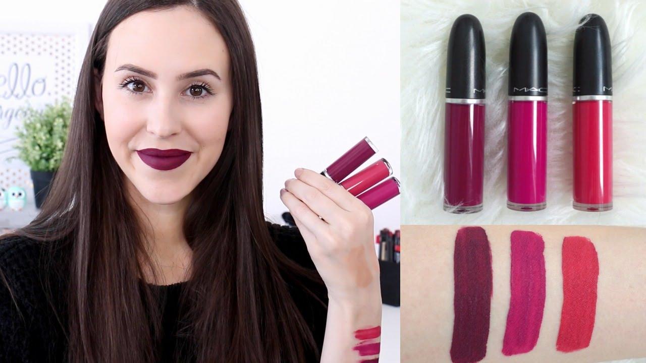 mac liquid lipstick to matte with love