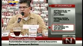 Estado Barinas Gran Mision AgroVenezuela Central Azucarero Ezequiel Zamora