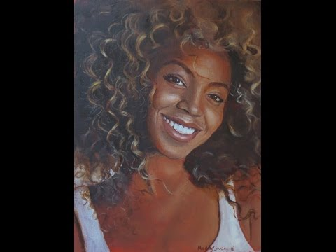 Time-lapse oil painting of Beyoncé by...