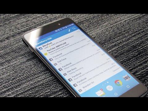 How To Setup BlackBerry Hub Widget On Android