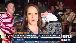 Employees claim closing Las Vegas tavern chain not paying for work