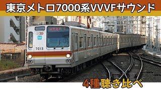 【音鉄♪】東京メトロ7000系[4種]VVVFサウンド集