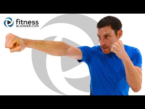 Cardio KickBoxing and Core Workout - Jump Rope and Kickboxing Tabata Workout