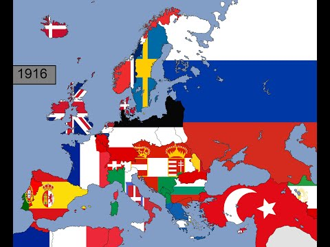 Europe: Timeline of National Flags: Part 1