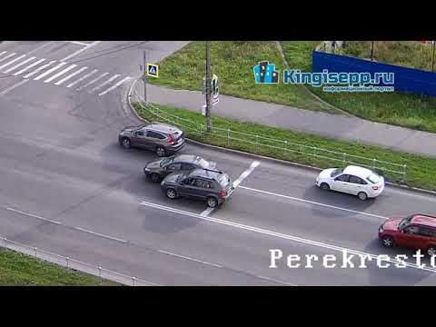 Самое дурацкое ДТП года? Видео момента аварии в Кингисеппе с веб-камеры KINGISEPP.RU