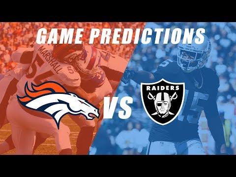 Oakland Raiders vs Denver Broncos Predictions