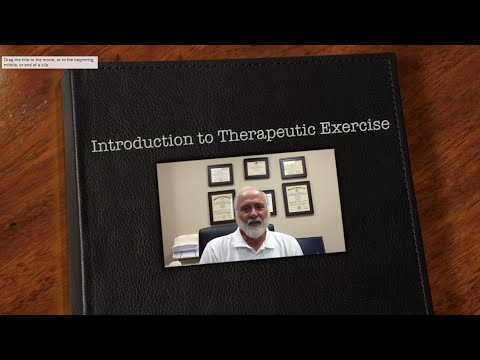 Introduction to Therapeutic Exercise