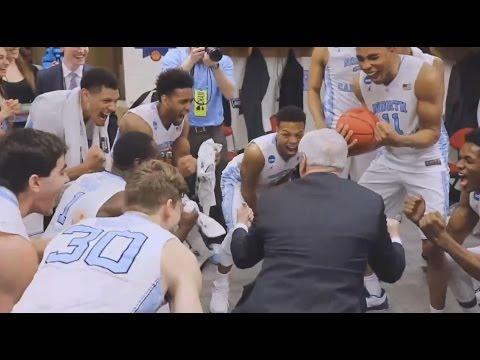 UNC Men's Basketball: Locker Room Celebration Post Providence - Sweet Sixteen Bound!