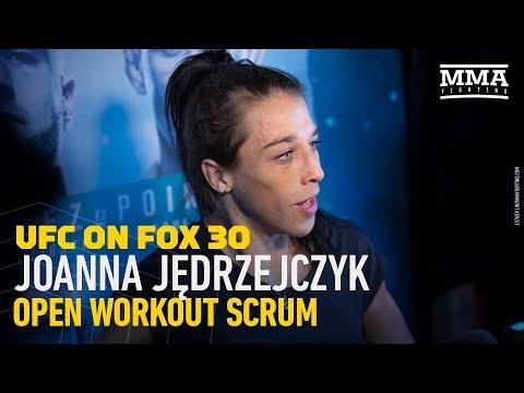 UFC on FOX 30: Joanna Jedrzejczyk Open Workout Scrum - MMA Fighting