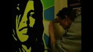 art attack: how to draw adriana lima ( muracho blacklight art ) tutorial