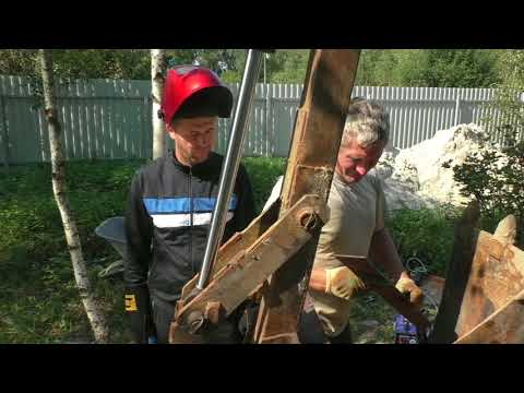 the power of home-made excavator