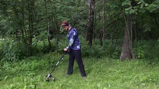 видео Аккумуляторный триммер GreenWorks G24LT30