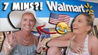 MUM vs teenage DAUGHTER - 7 MINUTE WALMART CHALLENGE!! * wtf is the results* 😂😭