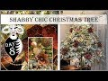 Shabby Chic Christmas Tree Decorate with Us | 8th Day of Vintage Christmas