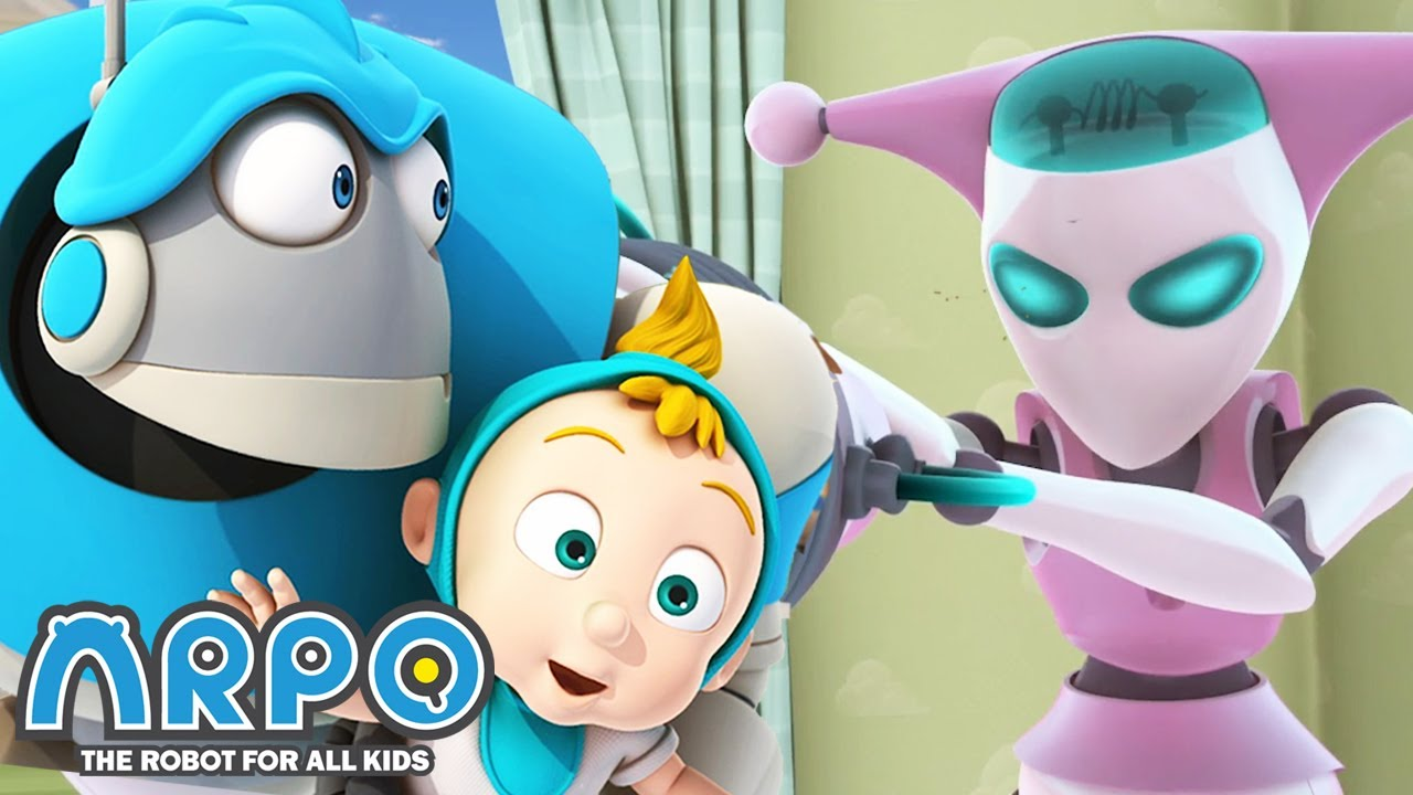Arpo the Robot | Nanny Robot and Arpo | COMPILATION | Best Moments | Funny Cartoons for Kids