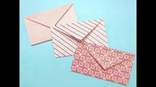 как сделать мини конвертик