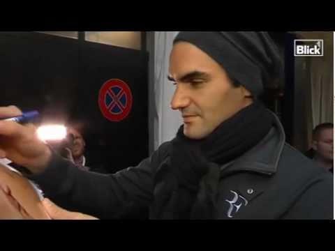 2010 Basel Roger Federer Arrived For Match