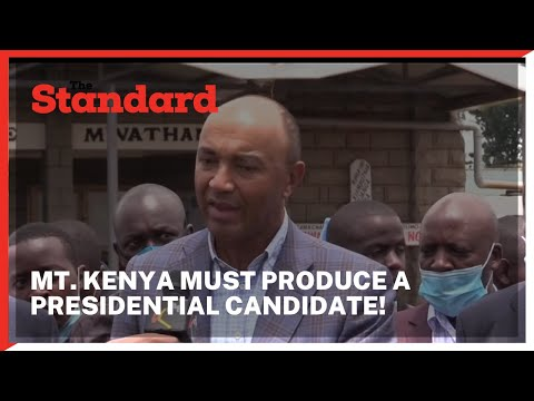 Peter Kenneth differs with Uhuru, says nothing blocks Mt. Kenya from producing a president in 2022