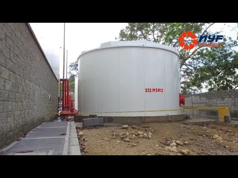 Tanques de almacenamiento de agua – redes contra incendios