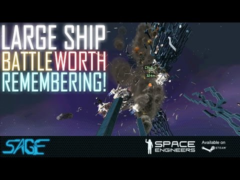 Space Engineers, Large ship, vs Small ships, and suicide ships!