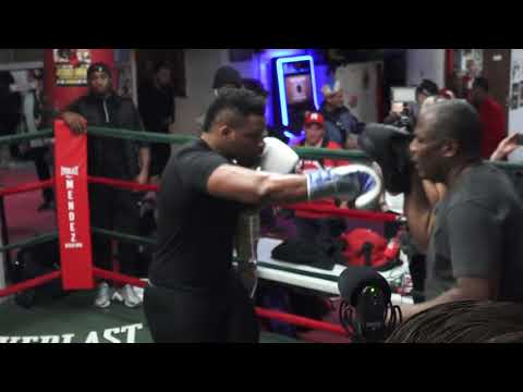 """Jarrell """"Big Baby"""" Miller media training before Wach fight #boxing"""