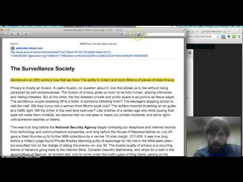 How to annotate article from EBSCO