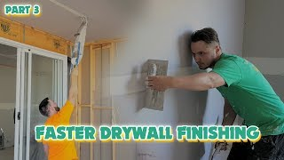Taping In With Drywall Finishing Construction Workers