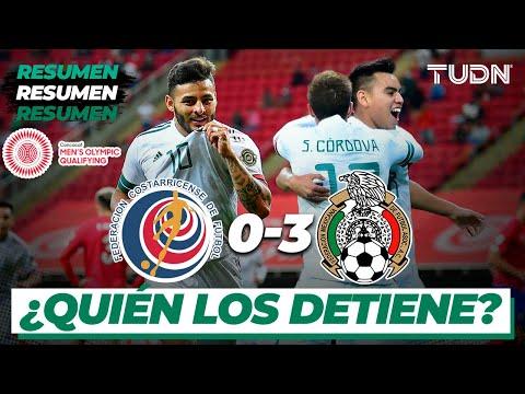 Resumen y goles | Costa Rica 0-3 México | Preolímpico Tokyo 2020 | TUDN