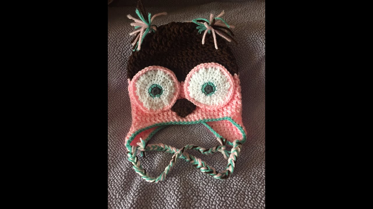 Crochet Owl Hat Diy From Home Youtube