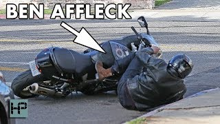 Ben Affleck Has A Motorcycle Accident!